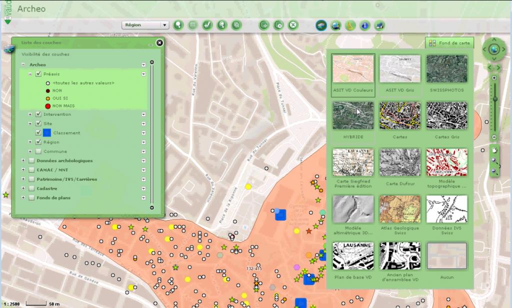 Analyse du système d'information de l'Archéologie vaudoise