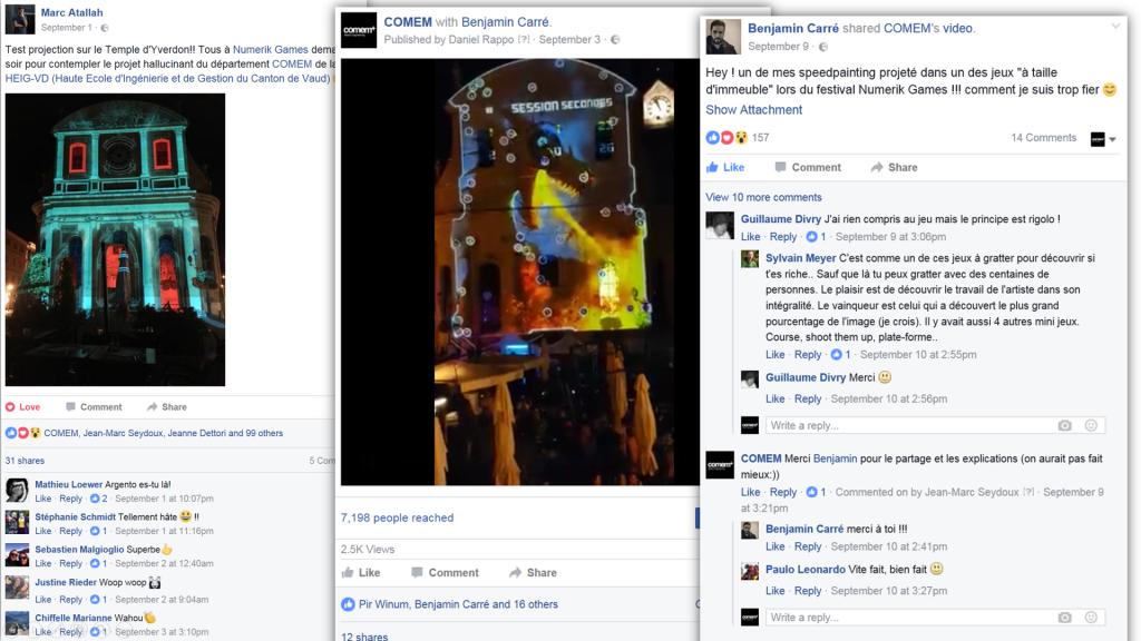 Réactions Facebook, extraits